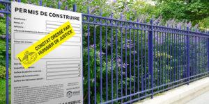 affichage permis de construire constat huissier